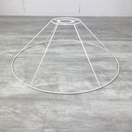 Suspension frame, 30 cm conical, ceiling light 6 branches, in anticorrosion epoxy, for E27