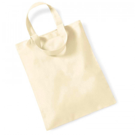 10 small bags in natural cotton, short handles, Tote bag, size 28 x 24 cm, to decorate